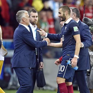 Didier Deschamps, left, was pleased with France's opening win (AP)