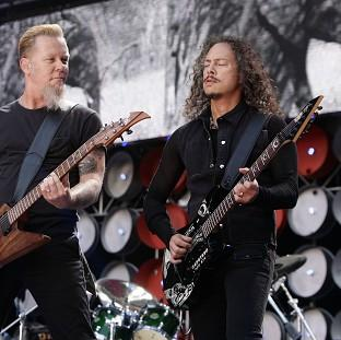 Burnley and Pendle Citizen: Metallica stars James Hetfield, left, and Kirk Hammett will be on stage for a Saturday headline set at Galstonbury