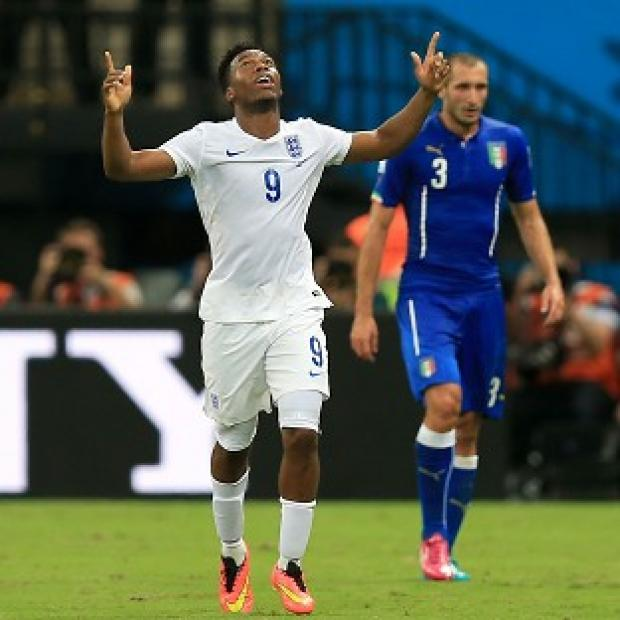 Burnley and Pendle Citizen: Daniel Sturridge scored England's only goal against Italy