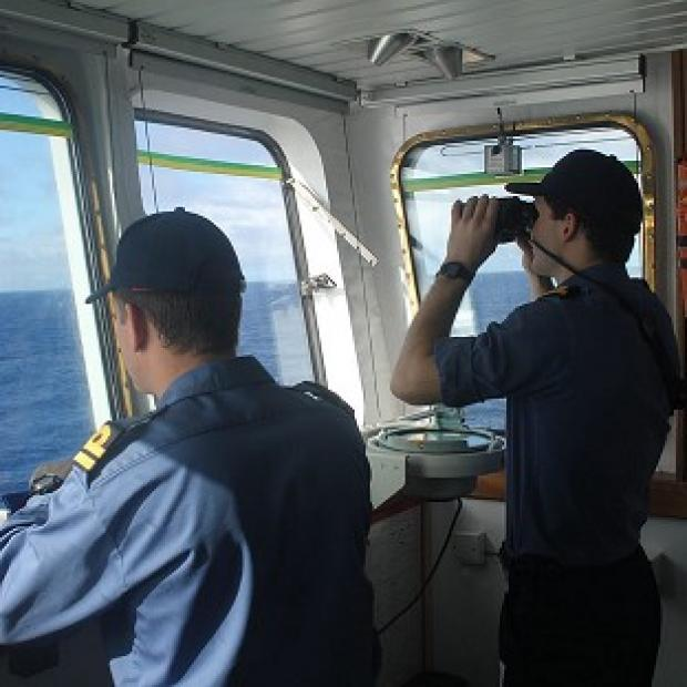 Burnley and Pendle Citizen: The crew on board survey ship HMS Echo helps the underwater search for missing Malaysia Airlines flight MH370 (MoD/PA)