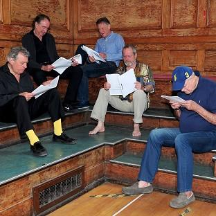 Burnley and Pendle Citizen: Terry Jones, Eric Idle, Michael Palin, Terry Gilliam and John Cleese are hard at work rehearsing for Monty Python Live (Mostly)