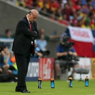 Vicente del Bosque took responsibility for Spain's humbling World Cup exit.