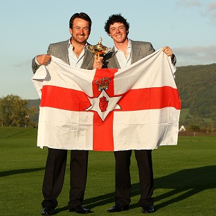 Graeme McDowell, left, and Rory McIlroy, right, will represent Ireland in the Olympics