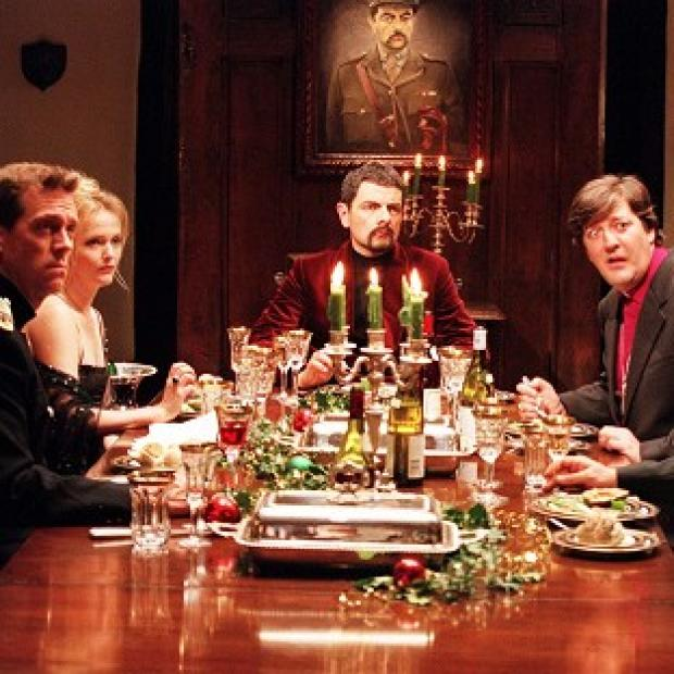Burnley and Pendle Citizen: Rowan Atkinson as Lord Edmund Blackadder (centre) entertains his friends at a New Year's Eve dinner at Blackadder Hall