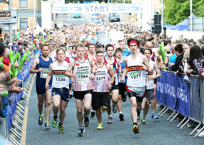 East Lancs runners battle heat in Jane Tomlinson Pennine Lancashire 10k