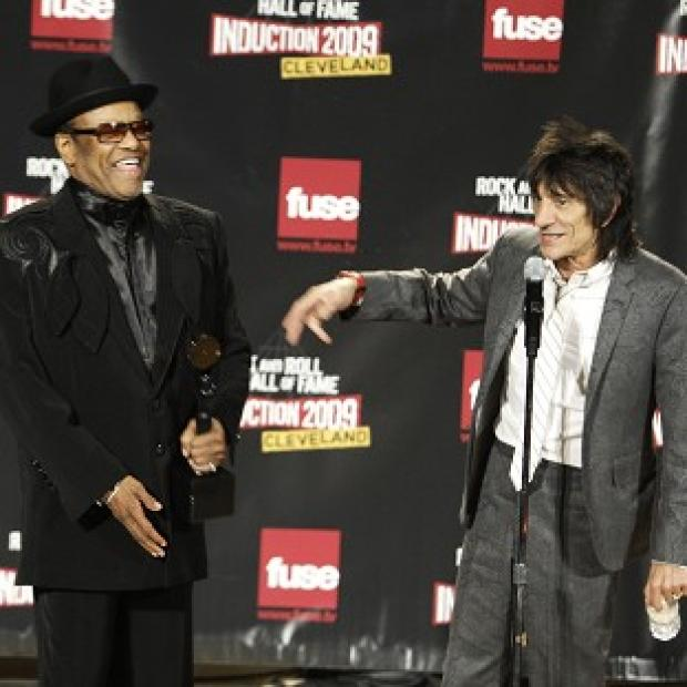 Burnley and Pendle Citizen: Bobby Womack, left, and Ronnie Wood backstage after Womack was inducted into the Rock and Roll Hall of Fame in 2009 (AP)
