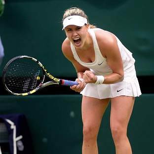 Canada's Eugenie Bouchard moved into the quarter-finals at Wimbledon