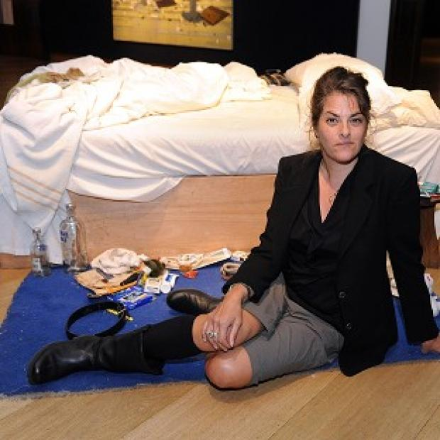 Burnley and Pendle Citizen: Tracey Emin with her work My Bed