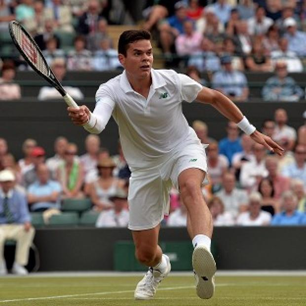 Burnley and Pendle Citizen: Milos Raonic, pictured, will face Roger Federer in the semi-finals