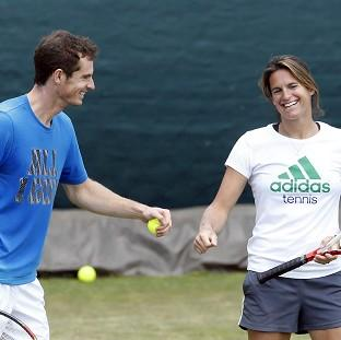 Burnley and Pendle Citizen: Andy Murray, left, initially appointed Amelie Mauresmo as his coach on a trial basis for the grass-court season