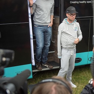 Mark Cavendish spoke to the media after revealing his Tour de France was over