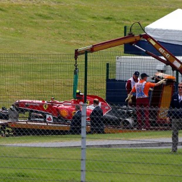 Burnley and Pendle Citizen: Ferrari's Kimi Raikkonen may sit out testing at Silverstone next week after a heavy crash on the opening lap of Sunday's British Grand Prix