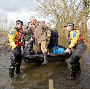 Burnley and Pendle Citizen: The Prince of Wales travelled to the flood-hit community of Muchelney earlier this year