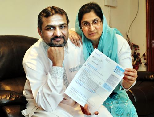 Burnley and Pendle Citizen: Hamid Ahmed and Nahida Paveen with the 'devastating' bill