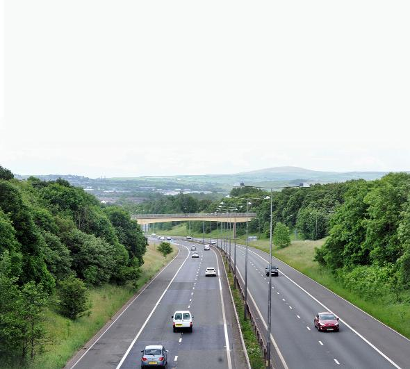 Roadworks on a 3.5 mile section of the M65 will last until December
