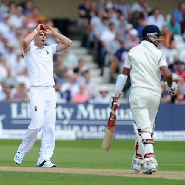 Burnley and Pendle Citizen: James Anderson, left, and the England bowlers toiled away with little success