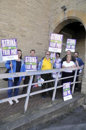 Thousands of public sector workers strike over pay across East Lancashire