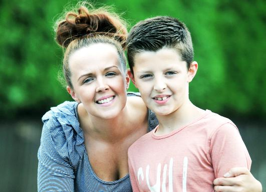 Rieli Biggins, nine, with mum Jade, is set to help other youngsters with cancer