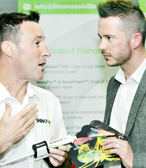 Spencer Kelly, left, of Innova Solutions with former Apprentice star Neil Clough