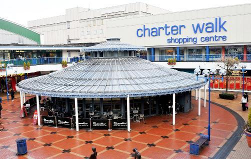 Burnley's Charter Walk has seen an increase in rent prices and is popular with m