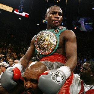 Floyd Mayweather, pictured, will face Marcos Maidana in September
