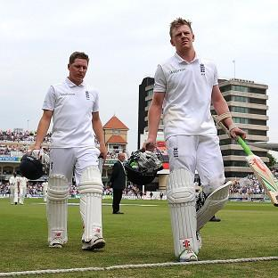 Gary Ballance, left, and Sam Robson both reached the lunch break on 59 not out