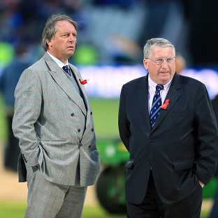 David Collier, right, is to retire as England and Wales Cricket Board chief executive