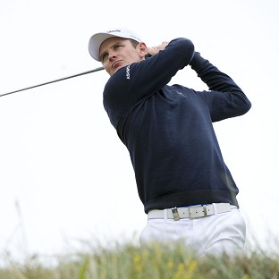 Justin Rose on his way to victory at Royal Aberdeen