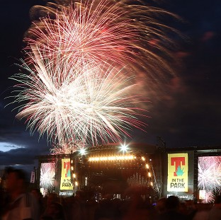 Fireworks signal the end of T in the Park music festival and the last time it will be held at Balado Park in Kinross, Scotland.