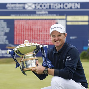 Justin Rose won the Scottish Open Trophy