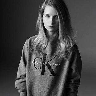 Lottie Moss was photographed by Michael Avedon for Calvin Klein Jeans' collaboration with Mytheresa.com