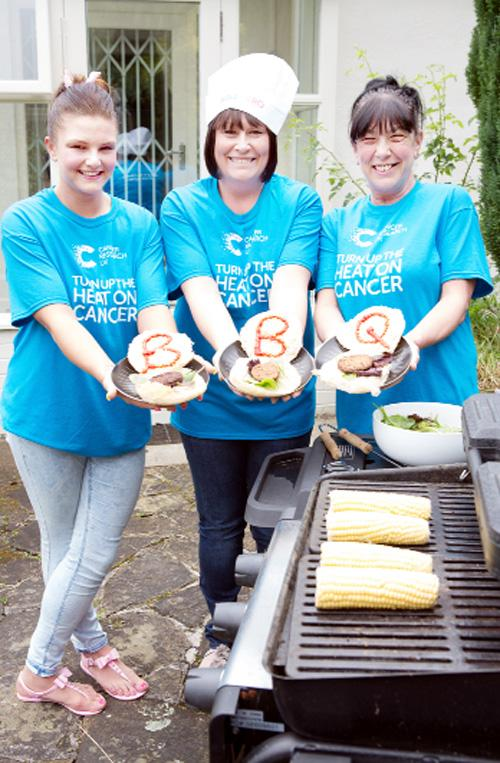 Maxine Betts and Maureen and Robyn Dixon are calling on fundraisers to become barbecue heroes