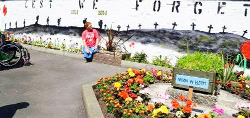 The old war memorial site has been given a community facelift