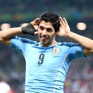 Luis Suarez was not at his unveiling on Wednesday