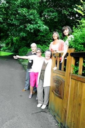 From left, County Coun David Stansfield with Joan Curran, Anne Nicholls, Ann Wilson and Francesca Grimshaw who have helped renovate Worsley Park in Rossendale