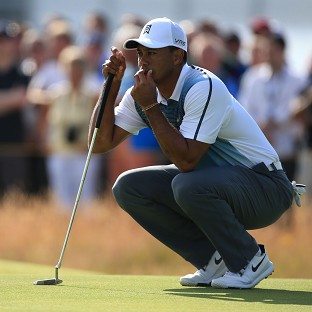 Tiger Woods got his first round of the 143rd Open Championship under way with a bogey