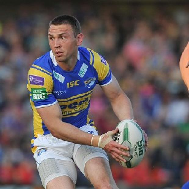Burnley and Pendle Citizen: Kevin Sinfield was sent off for Leeds