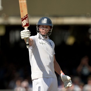 Gary Ballance celebrates his half-century at Lord's