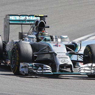 Nico Rosberg blitzed the track with a time of one minute 17.779 seconds (AP)