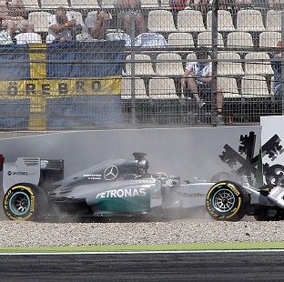 Lewis Hamilton will have to battle his way through the field in Hockenheim following his big crash (AP)