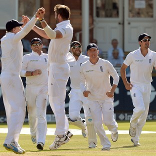 Liam Plunkett celebrates taking the wicket of India's Virat Kohli