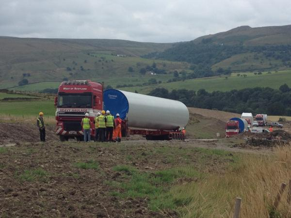 Coal Clough wind turbine delivery delayed as vehicle breaks down