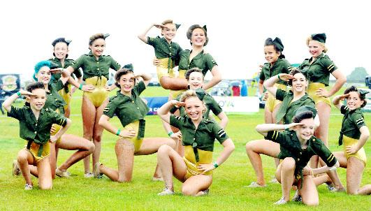 Rock-It dancers perform at Trawden agricultural show.