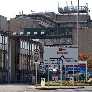 The toddler is being treated at Addenbrooke's Hospital