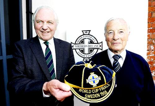 Clarets legend Jimmy McIlroy gets 1958 World Cup cap