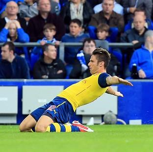 Olivier Giroud suffered an ankle injury against Everton