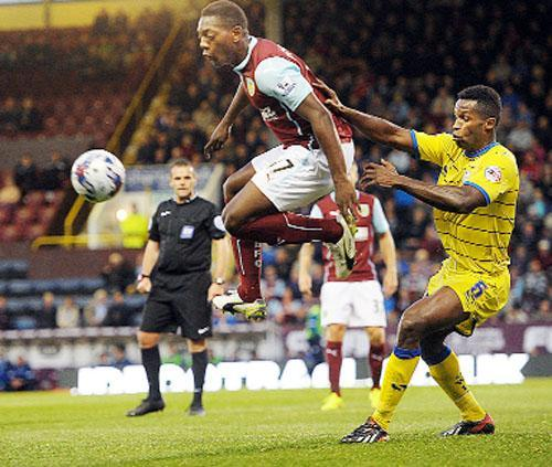 Striker Marvin Sordell controls the ball on his first competitive start for Burnley last night