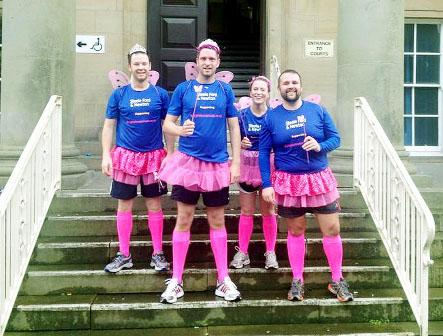 Steele Ford Newton solicitors in their fancy dress costumes