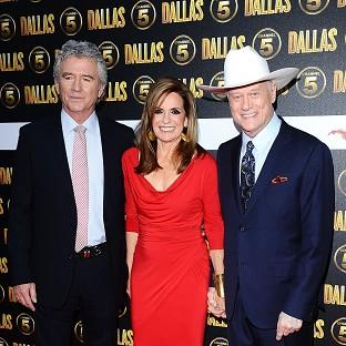 Patrick Duffy, Linda Gray and the late Larry Hagman w