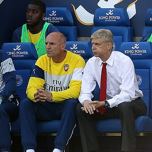 Arsene Wenger, right, oversaw a frustrating 1-1 draw for Arsenal against Leicester